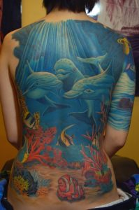 Bold Back Tattoo: Dolphin Tattoos